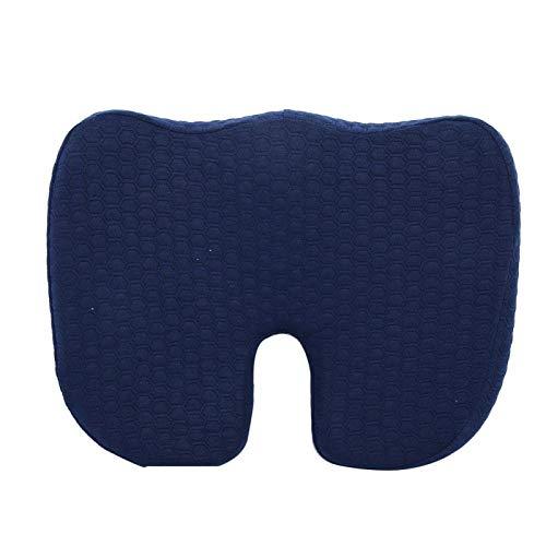 Cojín de espuma viscoelástica transpirable en forma de U cojín de asiento cojín de asiento de rabadilla alivio de dolor de espalda de ciática hemorroides de rabadilla, cojín de apoyo postural para co