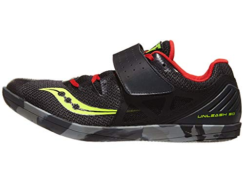 Saucony Men's Unleash SD2 Track and Field Shoe, black/red, 12