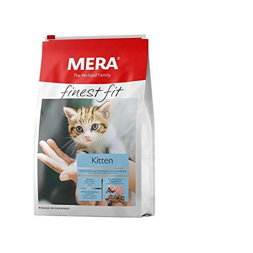 MERA finest fit Kitten Katzenfutter – Weizenfreies Trockenfutter mit frischem Geflügel und Reis für junge Katzen