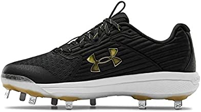 Under Armour Men's Yard MT Baseball Shoe, Black (006)/Black, 9
