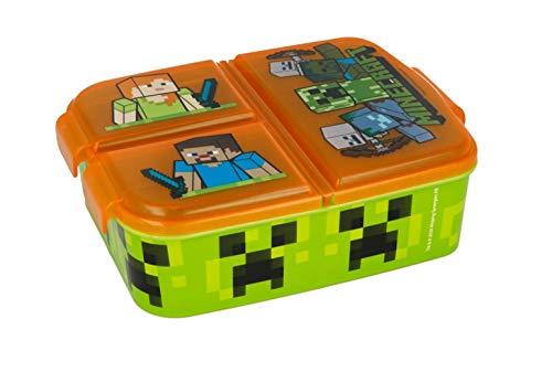 Kinder Brotdose / Lunchbox / Sandwichbox wählbar: Frozen PJ Masks Spiderman Avengers - Mickey – Paw aus Kunststoff BPA frei - tolles Geschenk für Kinder (Minecraft)