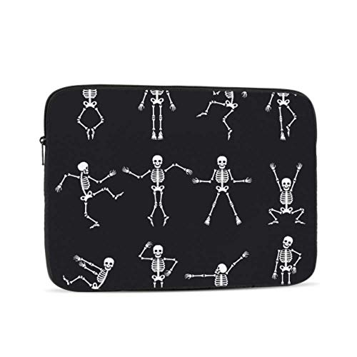 MacBook Pro 13in Case Black White Dead Dance Skeletons Wallpaper Case for Mac Multi-Color & Size Choices 10/12/13/15/17 Inch Computer Tablet Briefcase Carrying Bag