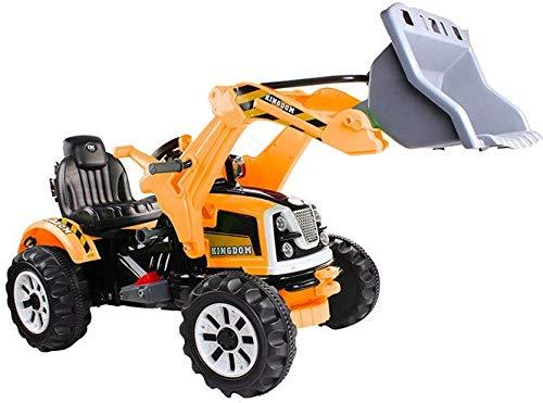 BSD Vehículo eléctrico para niños Coche eléctrico - Tractor, Excavadora - Amarillo