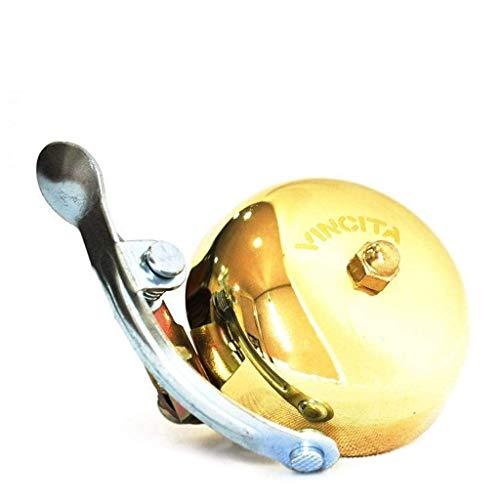 Vincita Vintage Brass Bike Bell - Shiny Gold Color, Long...