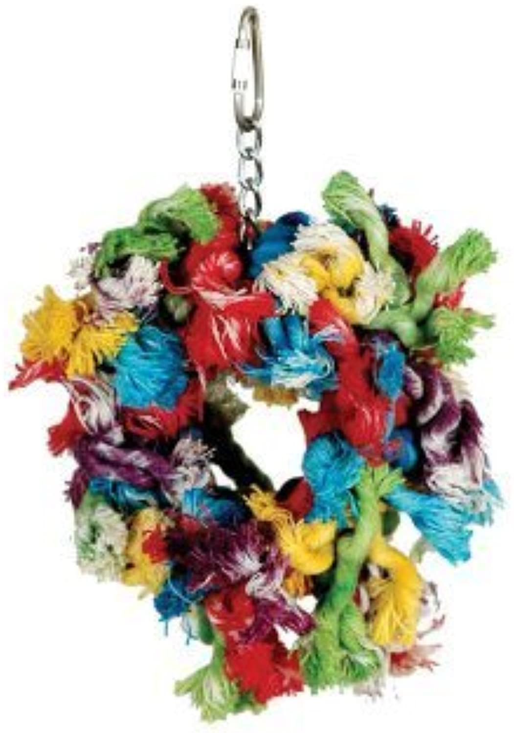 Paradise Toys Small Cotton Preening Ring, 5Inch W by 7Inch L by Caitec Corp