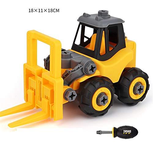 Metermall Kinder auseinander nehmen Bau p?dagogische DIY Engineering Fahrzeug Spielzeug Geschenke f¨¹r Kinder Forklift (forklift)