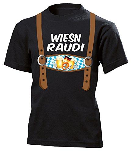Lederhosen Optik Wiesn Raudi 5842 Oktobferfest 2019 Kinder Kostüm Kids T Shirts Jungen Hemd Hose Kleidung Trachten Mode Outfit 116