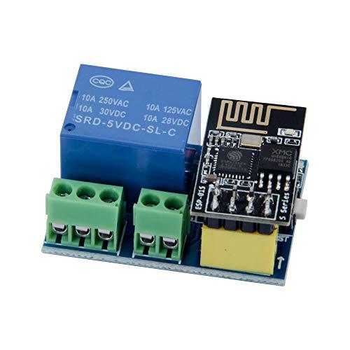 TeOhk ESP8266 WiFi-Relaismodul mit ESP-01S - Fernbedienung Smart Control Switch 5-12 V Wireless Transceiver für Phone APP