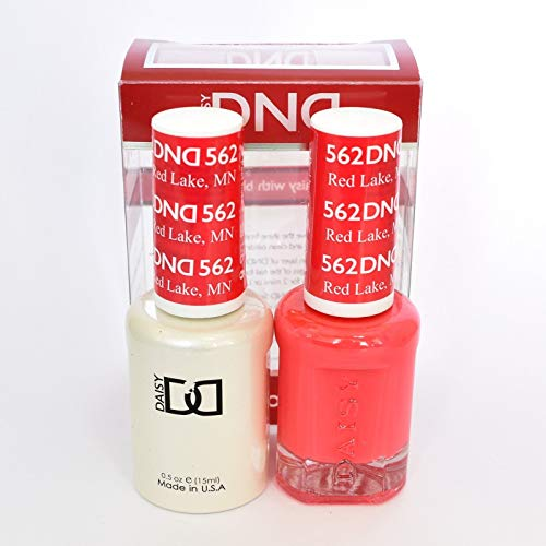 DND Daisy Duo Soak off Gel and Matching Nail Polish - 2016 Collection + Buy 2 colors get 1 FREE airbrush Stencil - (562 - RED LAKE, MN) by DND Daisy