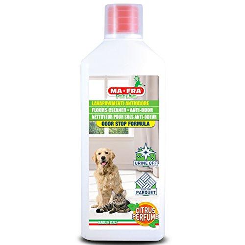MA-FRA, Geruchsabweisender Fußbodenreiniger Zitrusfrüchte, Reinigt Streifenfrei, Odor-Stop-Formel, Neutralisiert Urin und Unangenehme Gerüche, Ideal für Parkett, 1000 ml