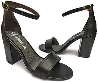 Incluye Gratis 3 Cubrebocas Lavables Sandalia De Tacón Alto 9 cm Cuadrado Y Ancho Con Pulcera Para Mujer
