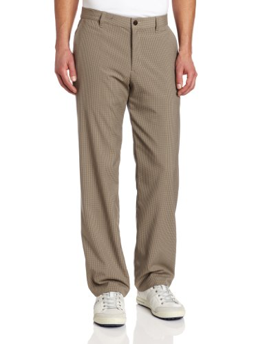 adidas Golf Tonal Mini Pantalón de Cuadros para Hombre, Hombre, 17, Caqui/Willow, 33W / 34L