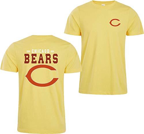 HY-Sweatshirt Camiseta 3D para hombre, diseño de los Chicago Bears de la NFL con impresión digital, color amarillo