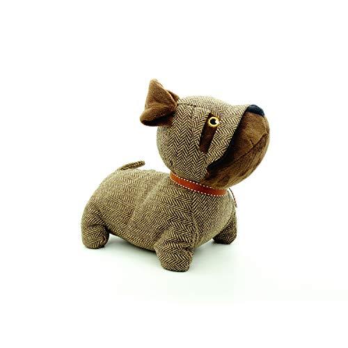 koko doormats Sujetapuertas Decorativo de Poliéster con Forma de Perro | Tope para Puerta Retenedor Decorativo de 1 kg, Color Marrón