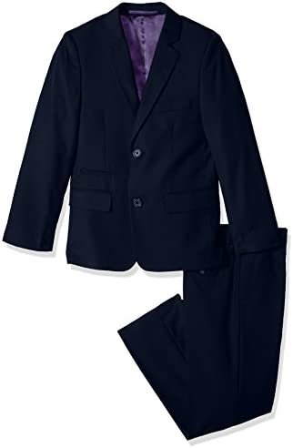 Isaac Mizrahi Boys Big 2Pc Slim Cut Wool Blend Suit Navy 10H product image