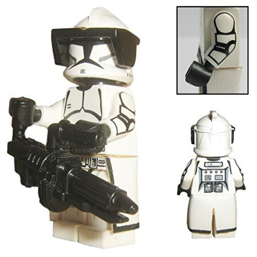 Custom Brick Design Republik Heavy Assault Clone Trooper Figur - modifizierte Minifigur des bekannten Klemmbausteinherstellers und somit voll kompatibel zu Lego