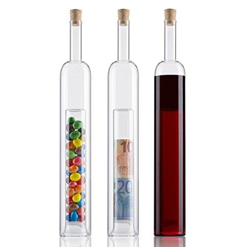 Flasche mit 2. Hohlraum - Geldgeschenke zur Hochzeit verpacken - Hohlraumflasche für Hochzeitsgeschenke für Brautpaare, Geburtstagsgeschenke - Geschenkverpackung