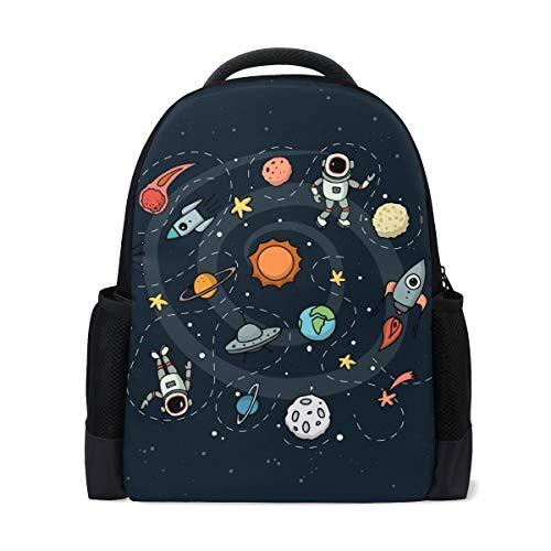 Mochila Astronauta Espacial Rocket Planet Mochila Viajes Escolares Guardería para Adolescentes Niños Niñas