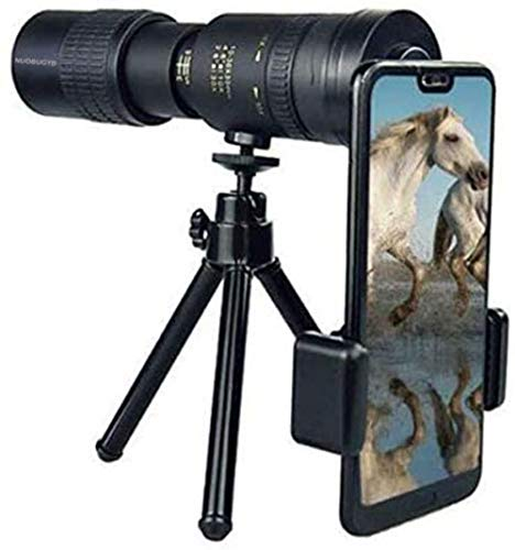 Monokular-Teleskop, 4K, 10–300 x 40 mm, Super-Teleobjektiv, kompakt, wasserdicht, mit Smartphone-Adapter, Stativ, für Wandern, Camping, Vogelbeobachtung