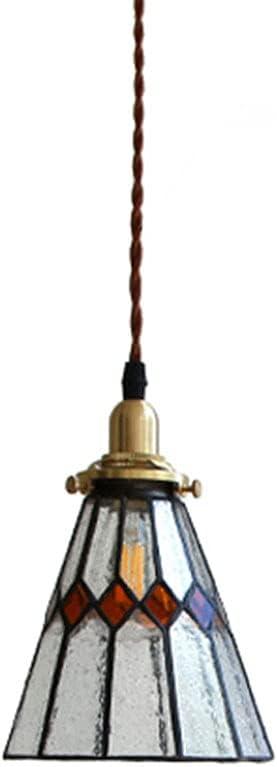Moddeny Lámpara De Araña Decorativa De Vidrio Retro E27 Iluminación Colgante Soplada A Mano De Vidrio Transparente En Forma De Campana para Lámpara De Techo De Isla De Cocina, Adecuada para