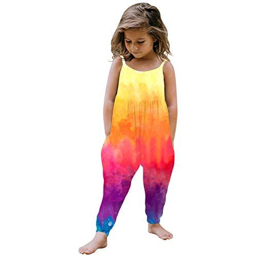 sunnymi Pelele para bebé de 1 a 6 años, para niña, mono de una pieza, con correa de color b 1-2 Años