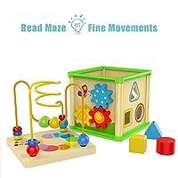 Top Bright - Cubo giocattolo multi-attività per bambini di 1 anno di età, giocattoli in legno per bambini di 12 mesi, regalo di compleanno #3