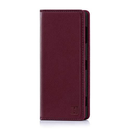 32nd Klassische Series - Lederhülle Hülle Cover für Sony Xperia XZ3, Echtleder Hülle Entwurf gemacht Mit Kartensteckplatz, Magnetisch & Standfuß - Burg&er