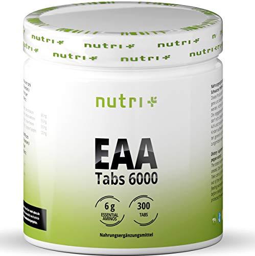 EAA TABLETTEN hochdosiert + vegan - 300 Tabs je 1025mg - essentielle Aminosäuren - EAAs ohne Kohlenhydrate + Magnesiumstearat - Aminosäure Supplement - Eiweißtabletten