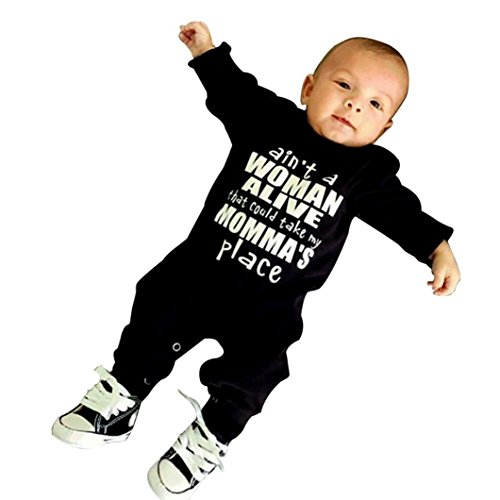 SHOBDW Boys Rompers, Baby Letter...