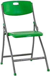 RONGJJ Silla de Escritorio Plegable Silla de Escritorio Acolchada Verde Oficina Hogar Silla de Respaldo de computadora Silla de Malla con Respaldo Alto,