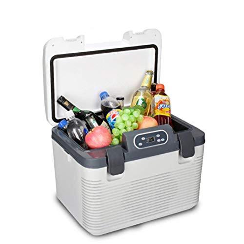 LFK Pequeño refrigerador Nevera Silenciosa Portátil De 19 litros, Mini Refrigerador por Congelación for CA/CC, Manejo, Viajes, Pesca, Uso En Exteriores Y En El Hogar