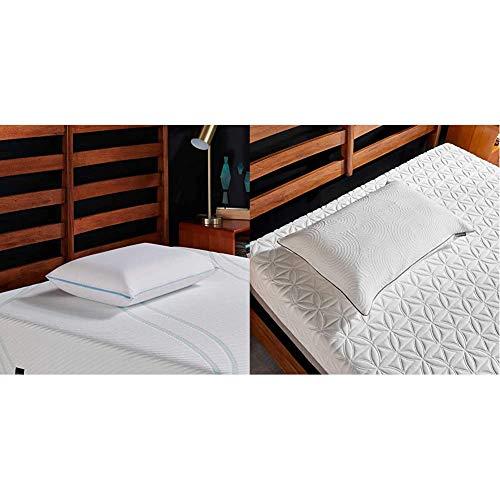 Tempur-Pedic TEMPUR-Cloud Breeze Dual Cooling Pillow, King & TEMPUR-Protect Pillow Protector, King
