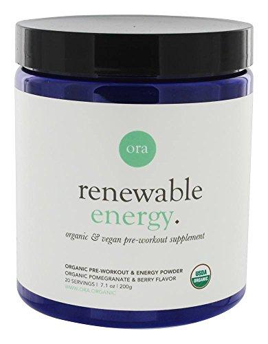 Ora Organic Natural Pre Workout Powder - Vegan Energy Supplement, Organic Beet Powder Blend Provides Jitter-Free Energy Boost & Focus, for Women & Men - Pomegranate Beet Flavor, 20 Servings…