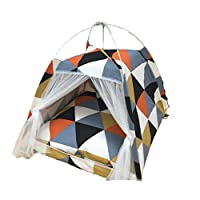 猫用ベッド ペット用ベッド犬猫のテントの犬小屋犬小屋折りたたみ式の取り外し可能で洗える防風性と暖かい抗蚊屋内と屋外の10色 猫ハウス (Color : G, Size : L)