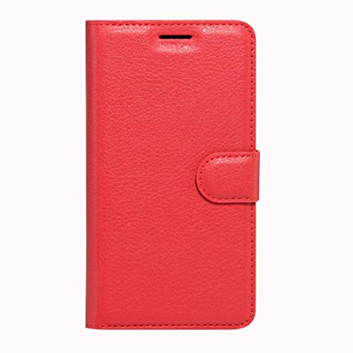 A+Xu Jie For Wileyfox Swift Litchi Texture Horizontal Flip Leather Case with Magnetic Buckle & Holder & Card Slots & Wallet(Black) (Color : Red)