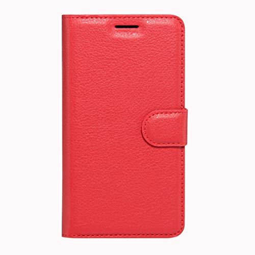 RONGCHAO Tasche für Mobiltelefon Für Wiko K Kool und Jerry Litchi Texture Horizontal Flip Leder Tasche mit Magnetschnalle und Kartenhalter und Kartenhalter (Schwarz) Shell Cover (Farbe : Red)