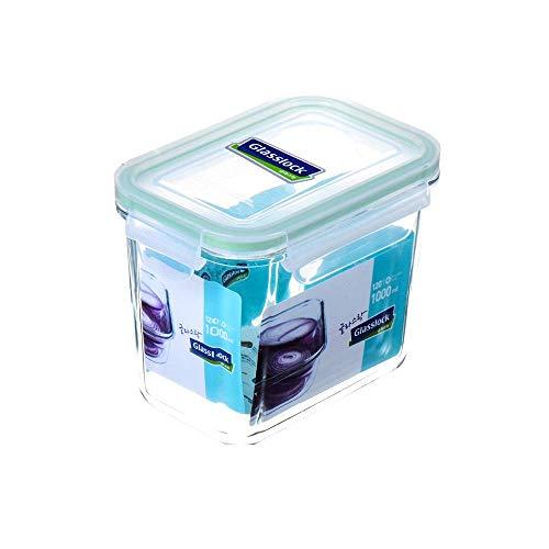 mit Fach Brotdose Hartglas versiegelte Suppenbox Mikrowelle Suppe Haferbrei Schüssel für die Arbeit mit Suppenkonservierungsbox-1000ml hoch