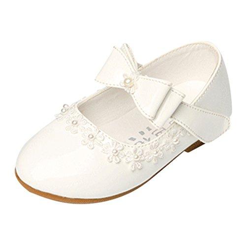 Generic Lopetve, scarpe da bambina, per costumi da principessa, Ballerine, per feste o battesimi, Bianco (bianco), 21.5 EU