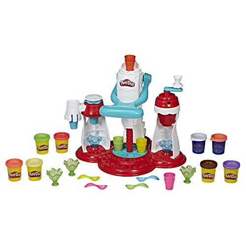 Play-Doh Kitchen Creations Ultimate Swirl Ice Cream Maker Play Food Set with 8 Non-Toxic Colors Toy