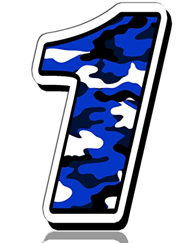 Biomar Labs® Startnummer Nummern Auto Moto Vinyl Aufkleber Sticker Blaue Tarnung Camouflage Motorrad Motocross Motorsport Racing Nummer Tuning 1, N 211