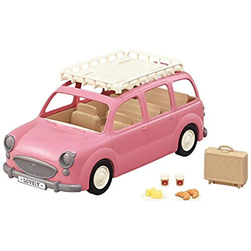 Calico Critters Family Picnic Van for Dolls, Toy Vehicle Seats up to 10 Collectible Figures