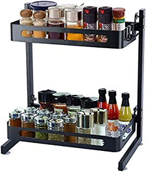 Melody House 2 Tier Metal Kitchen Spice Rack