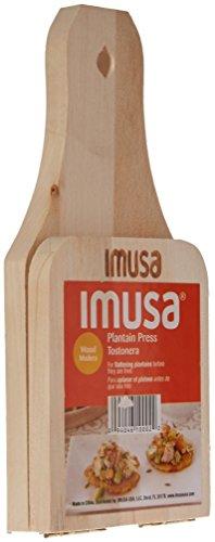 Imusa Small Wood Tostonera Plaintain Press