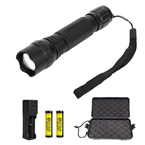 IR Taschenlampe 940nm 5W Infrarot Taschenlampe - Zoombare IR Torch sollte mit Nachtsichtgeräten zur Nachtbeobachtung und Fotografie funktionieren, inklusive Batterien