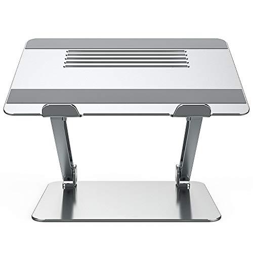 Supporti per Notebook Supporto per Laptop Pieghevole, Supporto per Laptop Regolabile Portatile, Rialzo per Laptop Multi-Angolo con Sfiato di Calore, Compatibile per Laptop da 10-17 Pollici