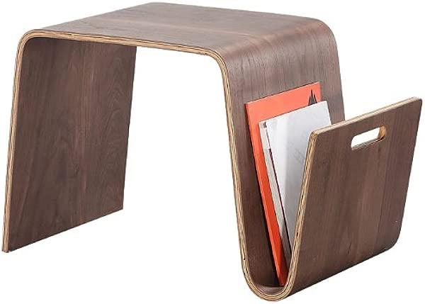 Ceets ET001 WA Brookside Magazine End Table 25 6X14 2X15 7 Walnut