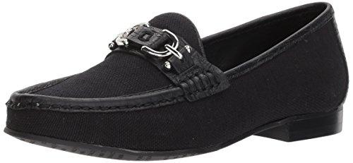 Donald J Pliner Women's Suzy Loafer Flat, Black, 6.5 Medium US
