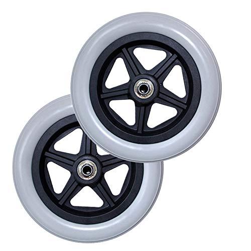 YSJX Polyurethan Ersatz Räder für Rollstuhl,Ersatzrollen für Rollstuhlräder,mit ABS Kunststoff-Felge,Leichtlauf,Räder Caster Vollgummireifen Ersatzteil für Rollstuhl