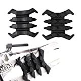 Xilang 2 Pcs Compound Bow Stabilizer Split Limb Damping Rubber Archery Bow Limbs Vibration Damper Dampener Crab Shaped Shock-Absorbing Sliencer for Hunting Traing Accessories (Black)