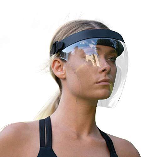 QiChan Transparente Gesichtsabdeckung, modischer Stil und bequem, Gesichtsschutz, kompatibel mit Brille und Abdeckung, schützende Kopfbedeckung.